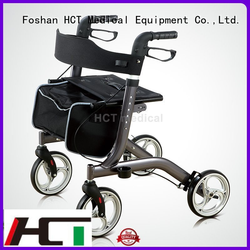 version rollator walker lightweight bag HCT Medical company