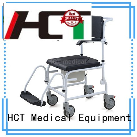 footrests chair toilet HCT Medical Brand commode toilet chair
