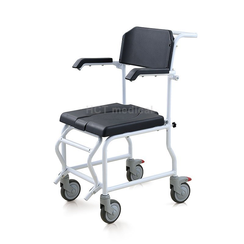 Mobile Wheeled Commode Toilet Chair HCT-3001