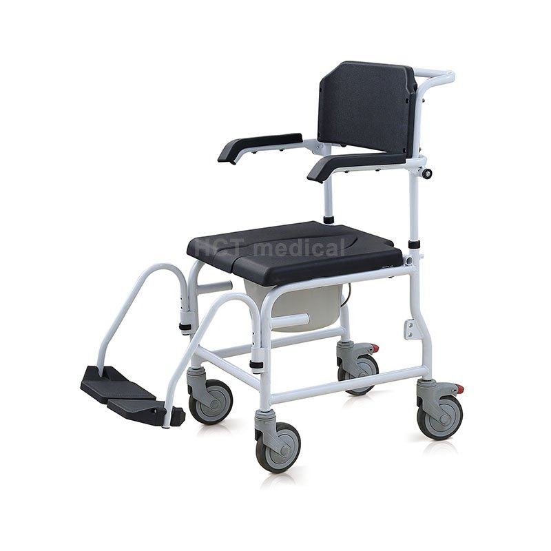 Commode and Shower Chair with Footrests HCT-3002