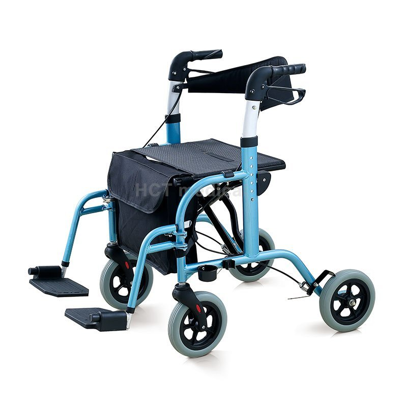 Orthopedic walker rollator with footrest HCT-9103