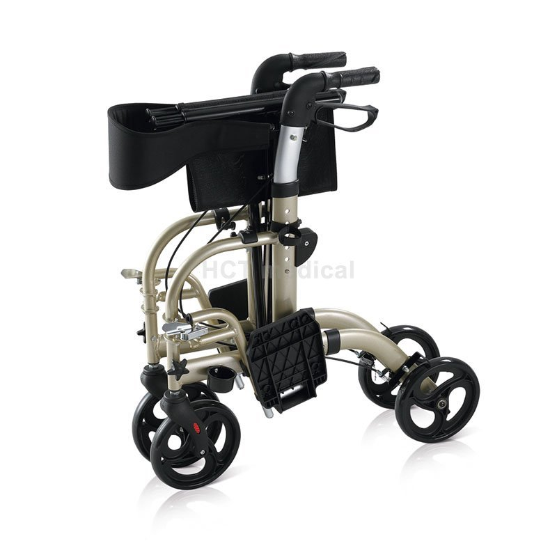 Rollator Transport Chair Rollator Walker With Seat And