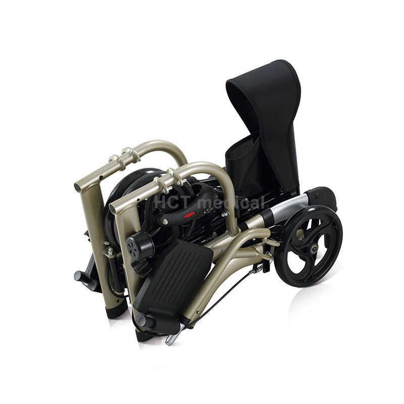 Rollator Transport Chair Rolling Walker HCT-9124A