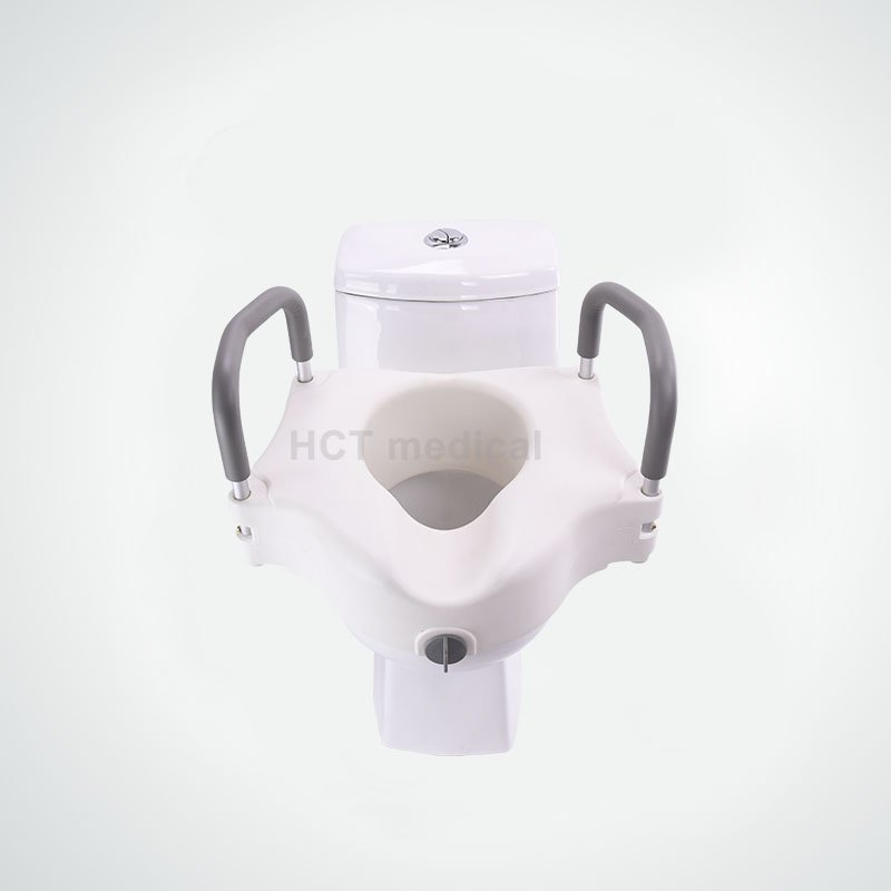 Raised Toilet Seat with Armrest HCT-7060B