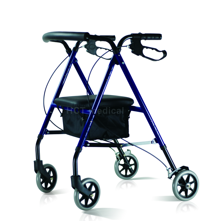 Steel Rollator with Bag and Seat HCT-9130