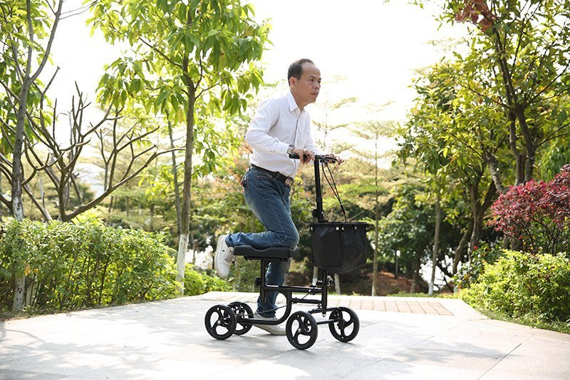 HCT Medical Brand knee steel walker knee walker scooter terrain