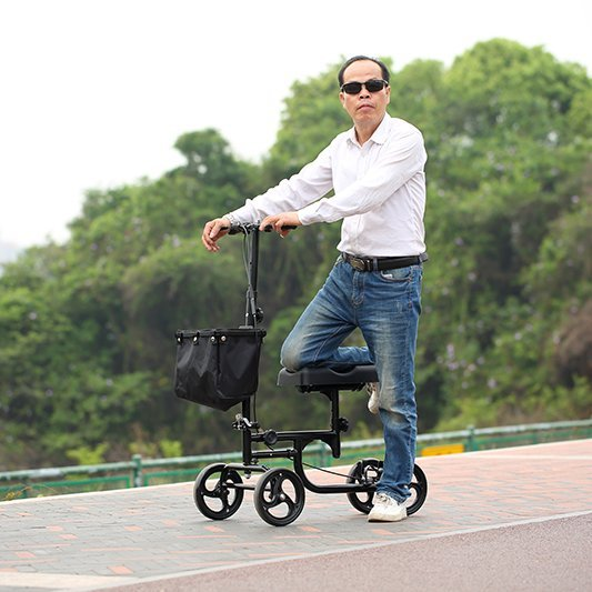 HCT Medical steel knee knee walker scooter terrain walker