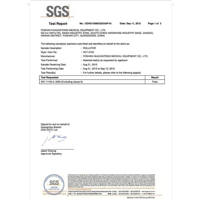SGS test report HCT-9103