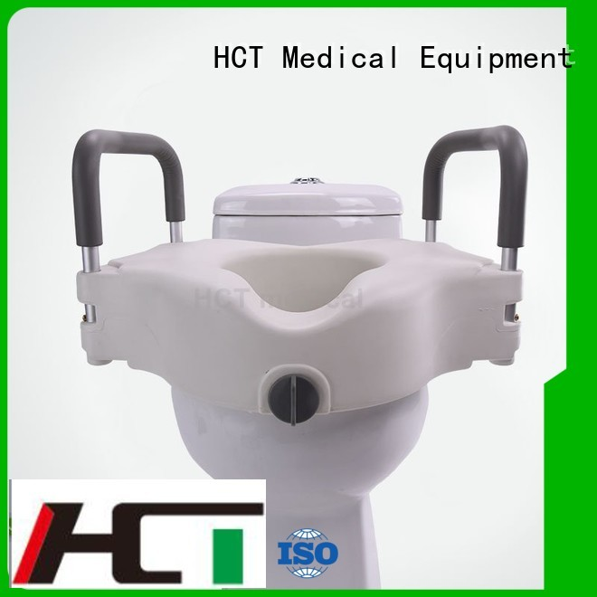 Wholesale different raised toilet seat with armrest HCT Medical Brand