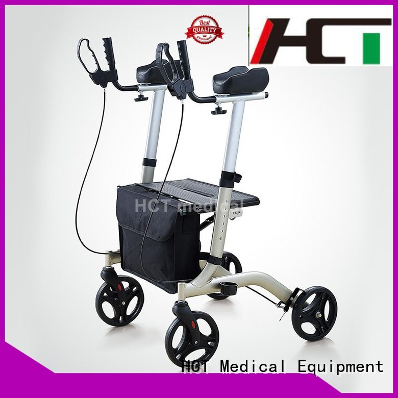 Wholesale articulated aluminum rollator simple HCT Medical Brand