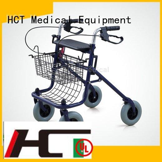 HCT Medical wheeled rollator walker seat