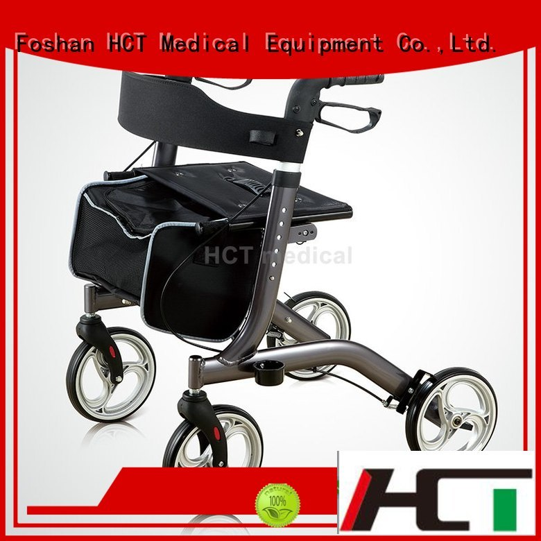 lightweight articulated knockeddown OEM rollator walker HCT Medical