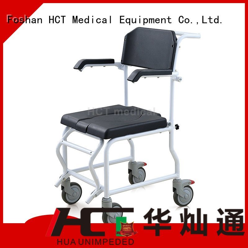 HCT Medical commode chair for sale mobile shower footrests