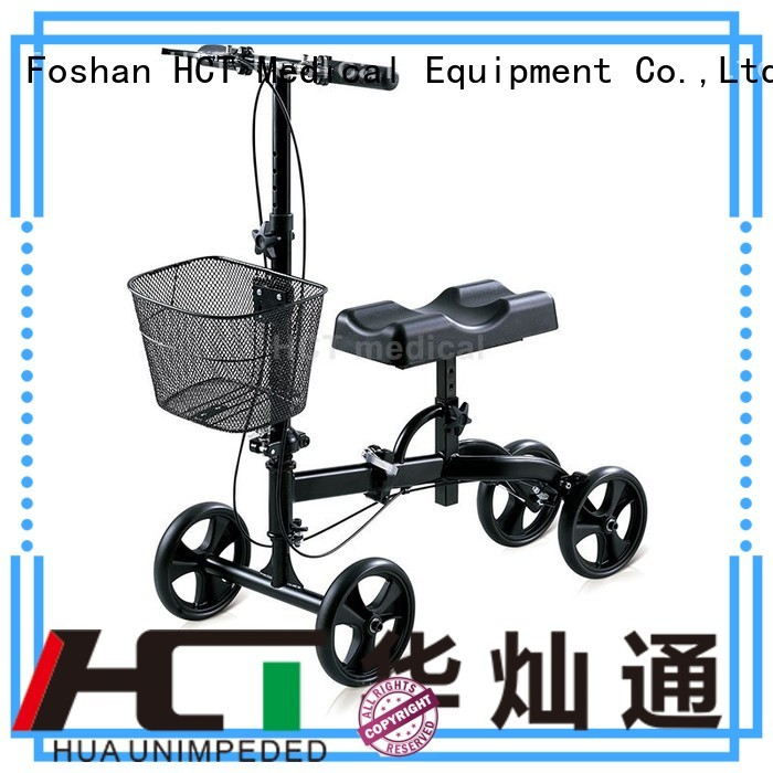 HCT Medical Brand knee terrain steel knee walker scooter manufacture