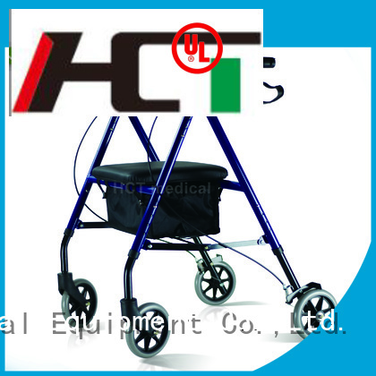 aluminum rollator simple foldable HCT Medical Brand