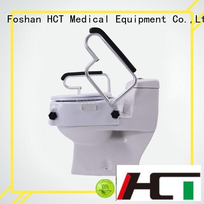 6″ handrails seat raised toilet seat HCT Medical