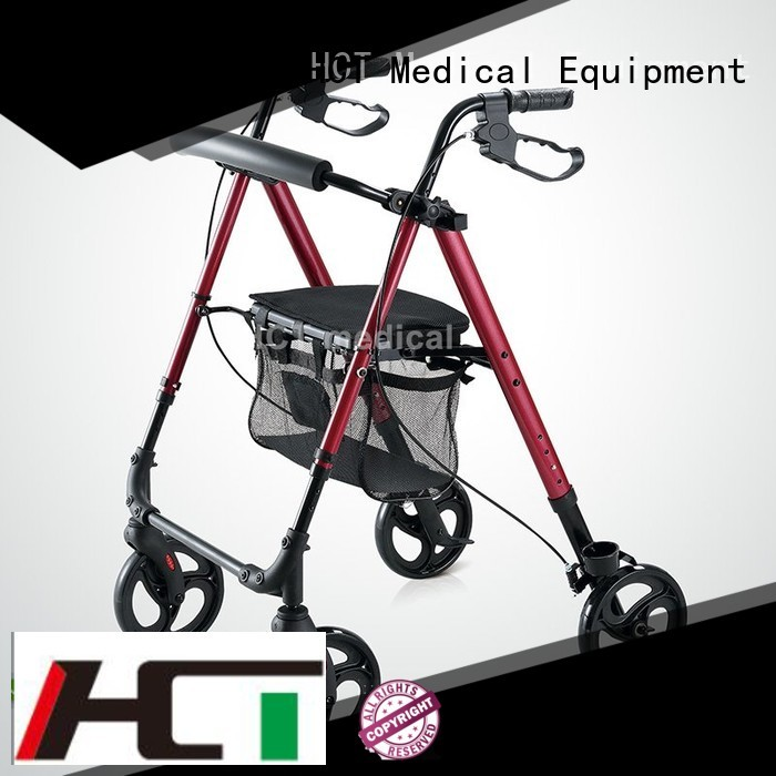 HCT Medical Brand transfer aluminum rollator function supplier
