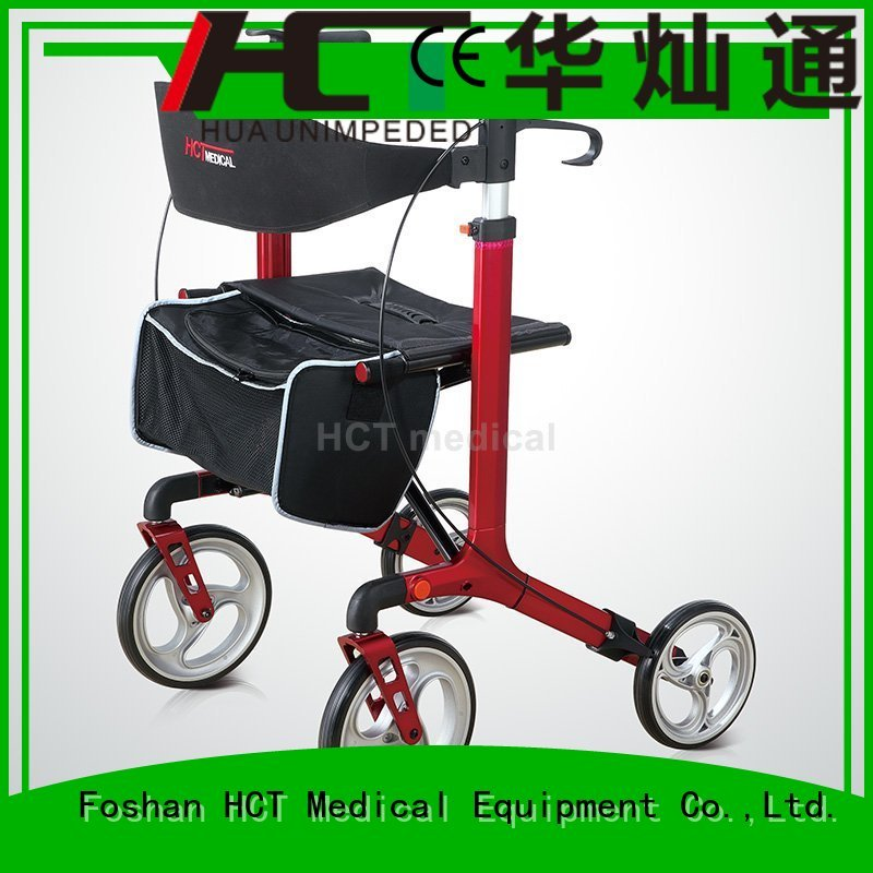 version seat articulated HCT Medical Brand rollator walker
