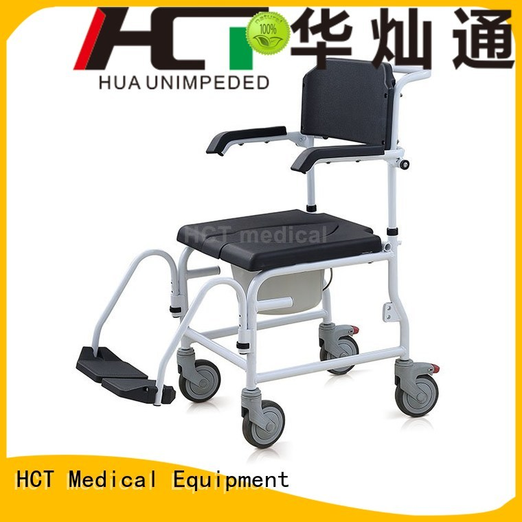 HCT Medical Brand footrests chair commode toilet chair manufacture