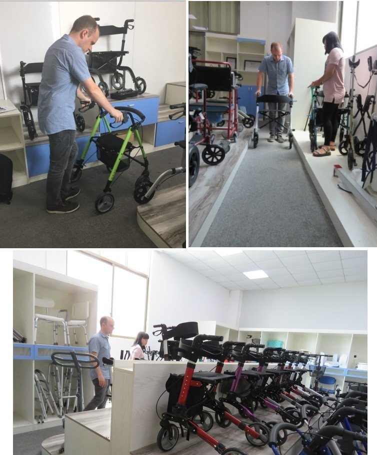 European Customer visit our Factory to look for rollator