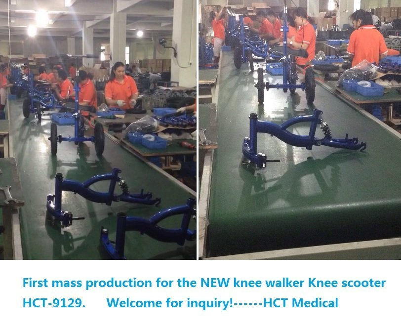 First mass production for knee walker HCT-9129 all terrain knee walker with air tires